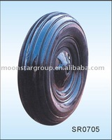 solid rubber wheel for wheel barrow/hand trolley