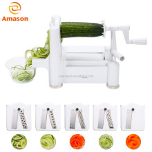 5 blade spiralizer/vegetable spiral slicer,5 in 1 spiralizer