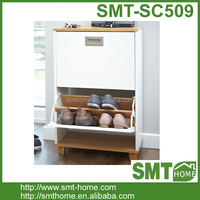 Simple White Home Furniture Wooden Shoes Rack/Cabine Design