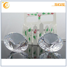Transparent Diamond Shape Crystal Glass ball with chandelier decoration