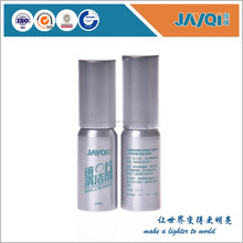 Anti fog lens cleaning solution in metal bottle