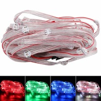 With 12cm Wire WS2811 IC 5V Pre-soldered WS2812B Addressable RGB LED Pixel Light Strip Module Nodes 50 pcs/String