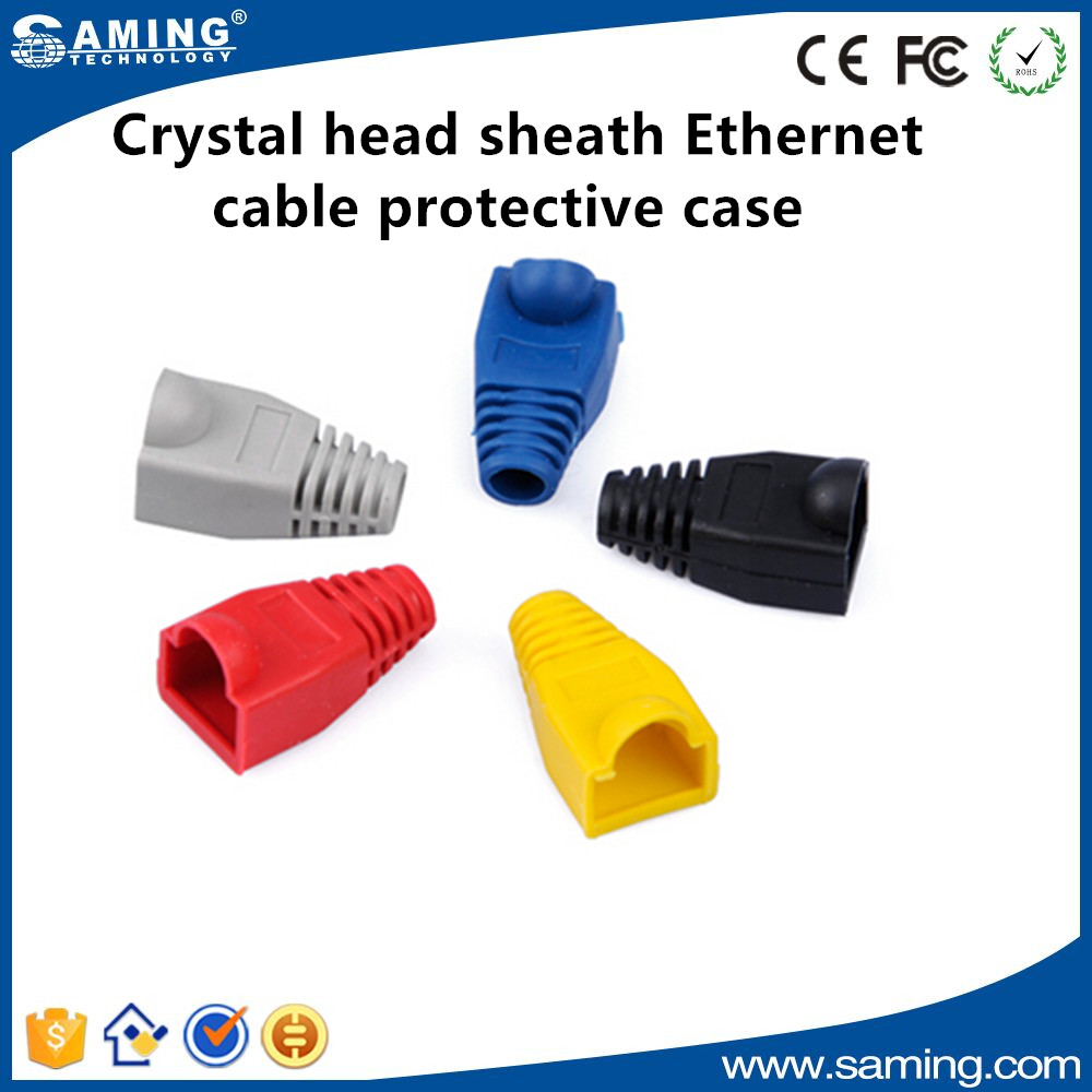Crystal head sheath Ethernet cable protective case rj45 Ethernet cable sleeve