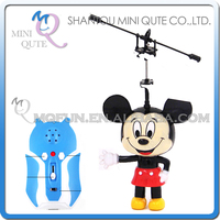 Mini Qute RC remote control kawaii flying Helicopter cartoon mouse model plastic doll kids Electronic toys NO.G15088-1