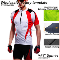 cycling wear manufacturer small order custom logo printing Short sleeve Coolmax Cycling Jersey