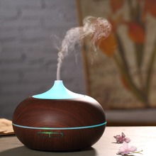 Beauty Care Products Home Fragrance Plastic Led Acoustic Nebulizer Wood Grain Aroma Essential Oil Diffuser