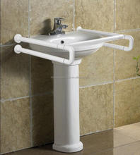 Bathroom stainless steel with nylon coated washbasin disable handrail,saftey grab bar