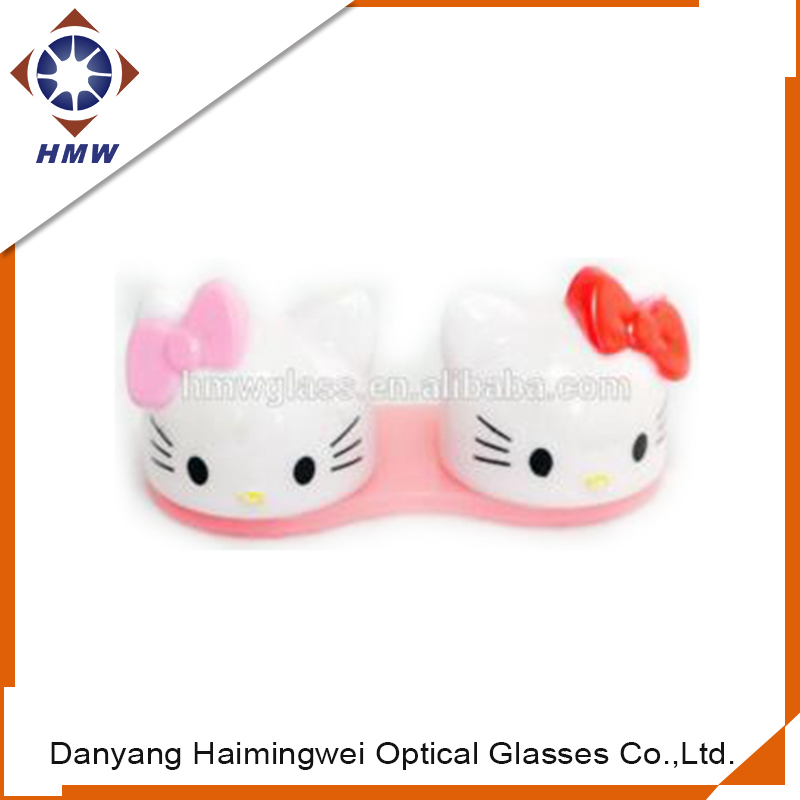 Hello kitty plastic contact lens cases