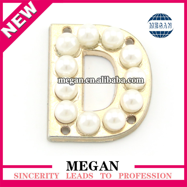Wholesale pearl jewelry brooch crystal letter brooches rhinestone hijab pins