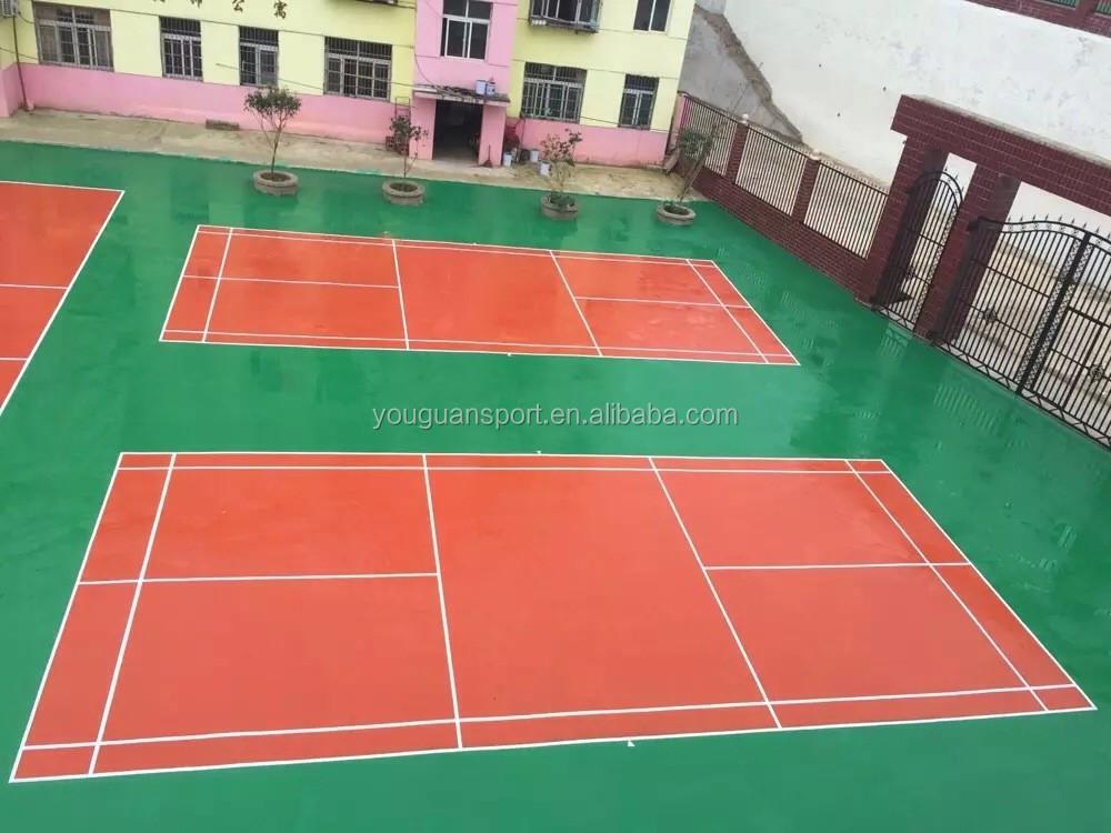 Portable Basketball Court : Silicon pu material portable basketball court sports