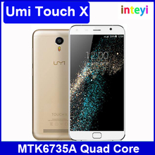 Original Umi Touch X Mobile Phone 5.5 inch FHD 1920*1080 MT6735A Quad Core 2GB+16GB Camera 8.0MP Android 6.0 4000mAh