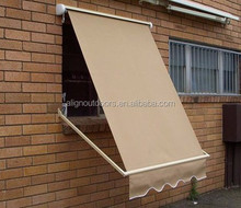 Aluminum Drop Arm Window Folding Awnings with Acrylic Sail Material