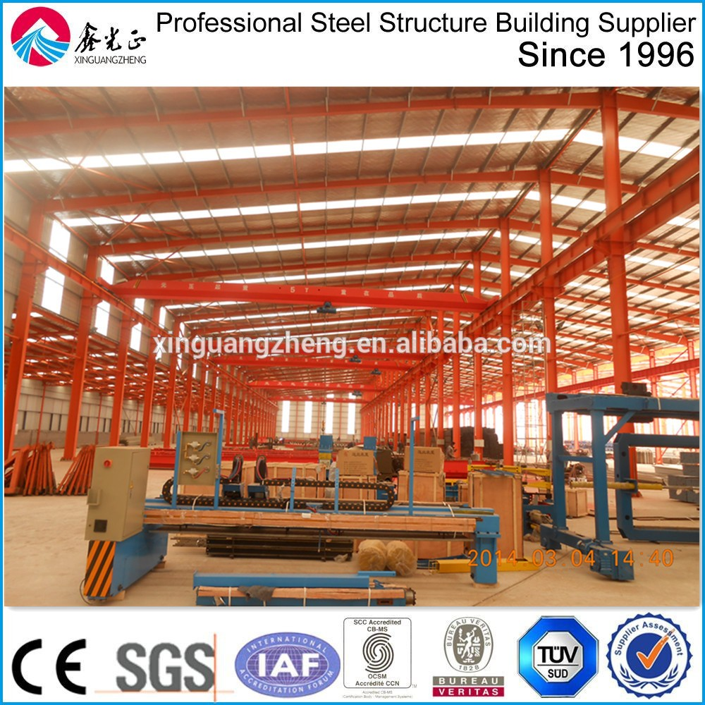 Pre engineering hangar portal frame design steel building structures