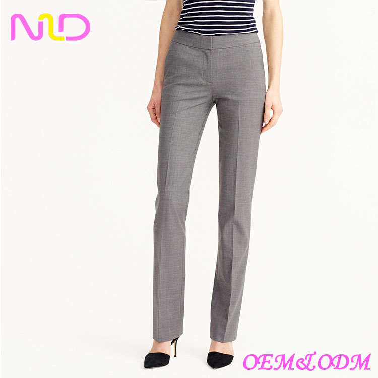 good shape ladies trouser cutting lind trouser material fabric trouser for woman