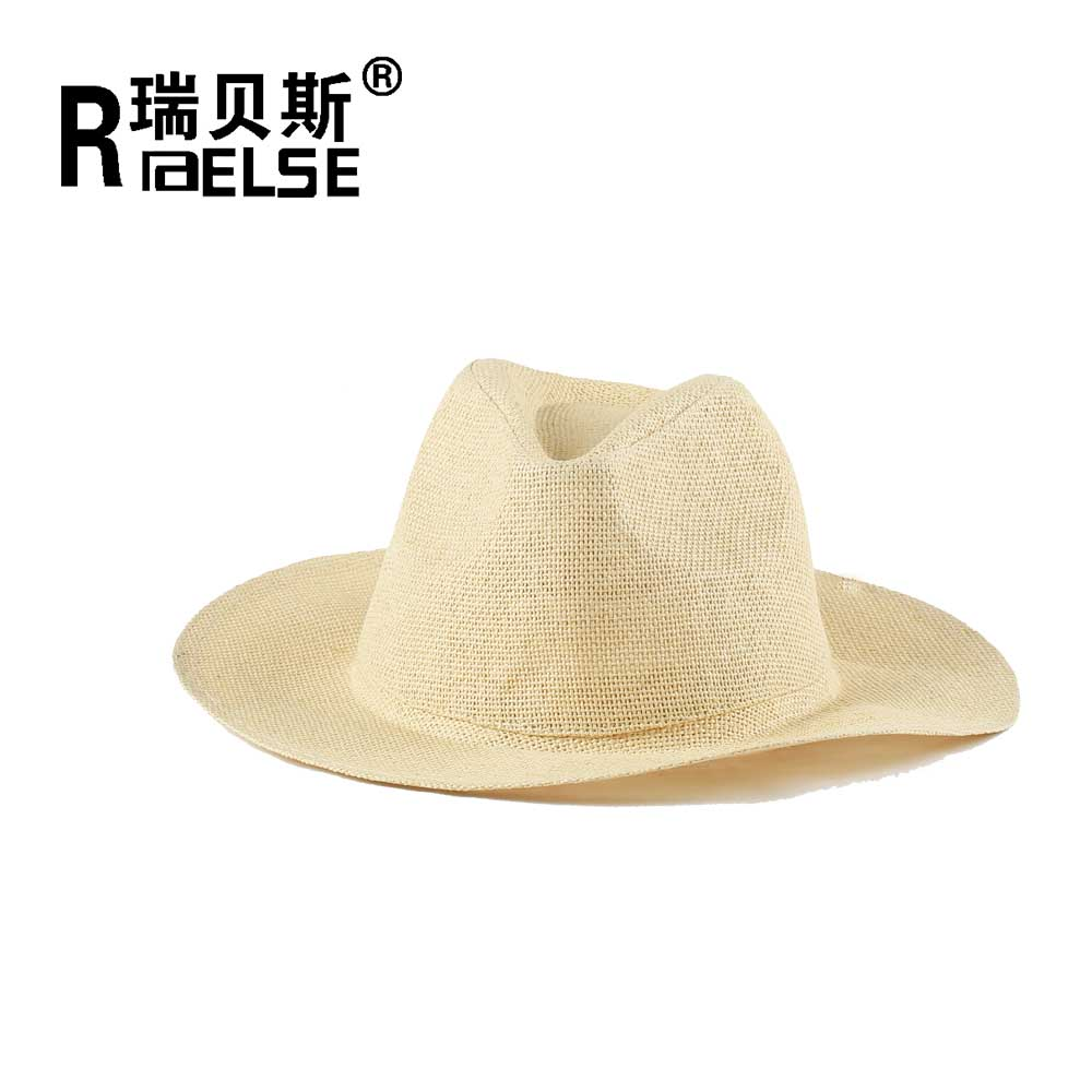 men panama plain paper straw hat