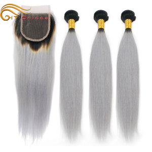 100 percent russian natural brazilian grey virgin human hair bundles