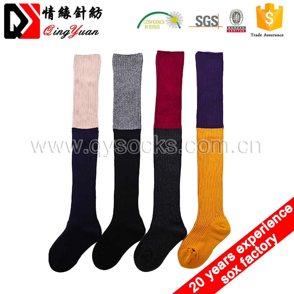 Wholesale Baby Kids Knee High Striped Stockings Children Cotton Knee High Tube Socks Girls Teen school Socks