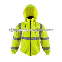 High Visibility Protcetive Hooded Sweatshirt with cup