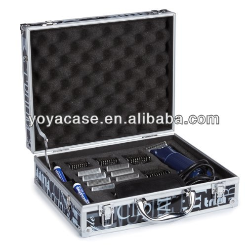 Aluminum Graffiti Print Clipper Case with foam