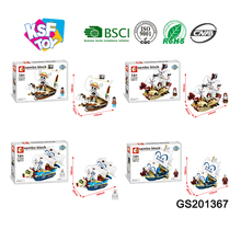 kids small plastic building blocks ship set enlighten brick toy for selling