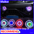 HID Headlight for Jeep jk wrangler headlamp car accessories from maiker