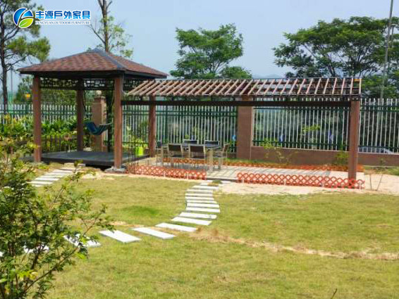 High Quality PC Sheet And Perforated-plate Outdoor Gazebo