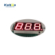 Electronic seven segment LED time temperature humidity displays screen number