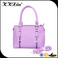 Women's custom embossed composition leather handbag
