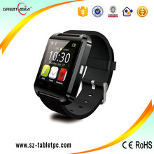 China Gold Supplier!!!2015 Low Price Fashion Bluetooth U8 Smart watch Sport Wrist Watch Compatible with Android Phone Device