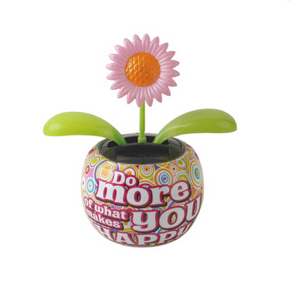 Custom printing flip flap plastic solar powered dancing flower