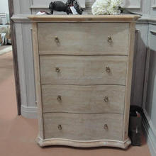 French Provincial Furniture Antique Oak Wood Chest of Drawers
