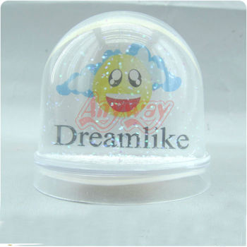 80MM Plastic Photo Frame Water Snow Globe