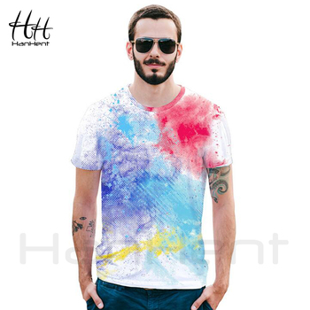 Free Shipping Psychedelic T shirt 3D Digital Print Loose Short Sleeve Tops Tees
