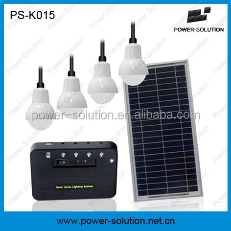 2016 top selling 4 led bulbs solar home lighting system for Africa power lighting and haiti mobile charging Hurricane Matthew