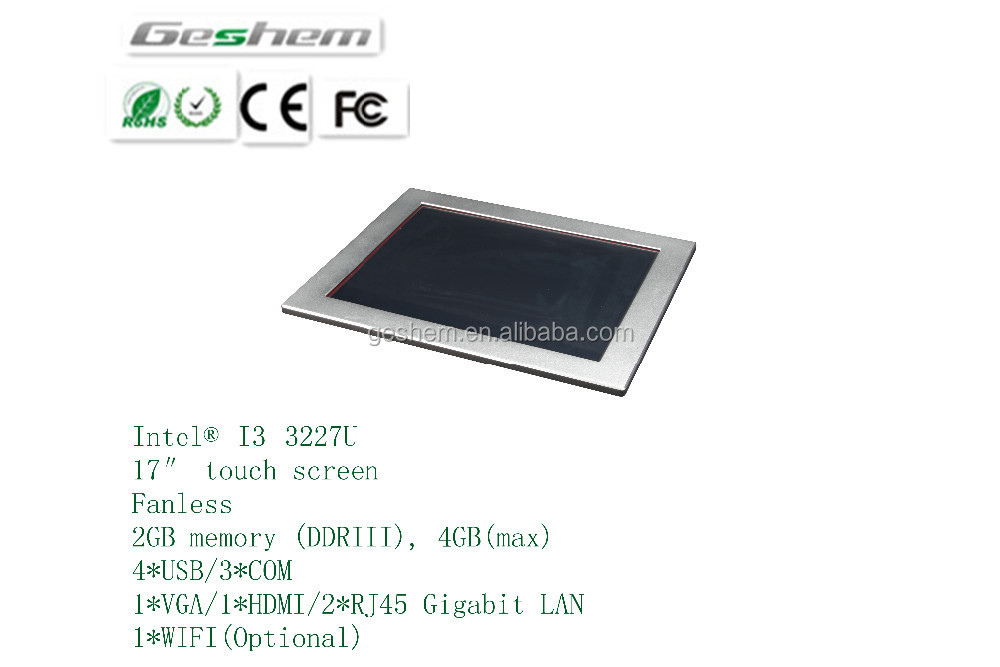 LINUX Industrial Panel PC Price/<strong>17</strong>'' Touch Screen All in One PC with high resolution 1024x768