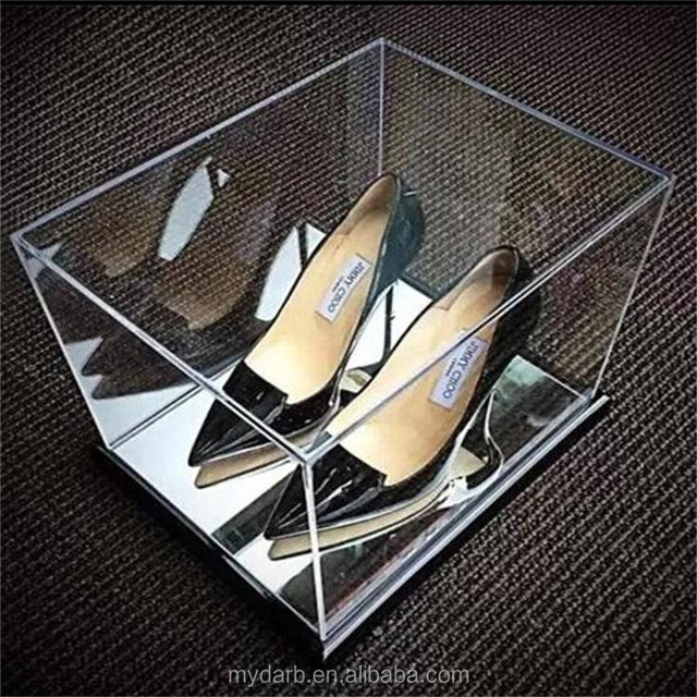 High quality luxury acrylic crystal women home shoes storage bins