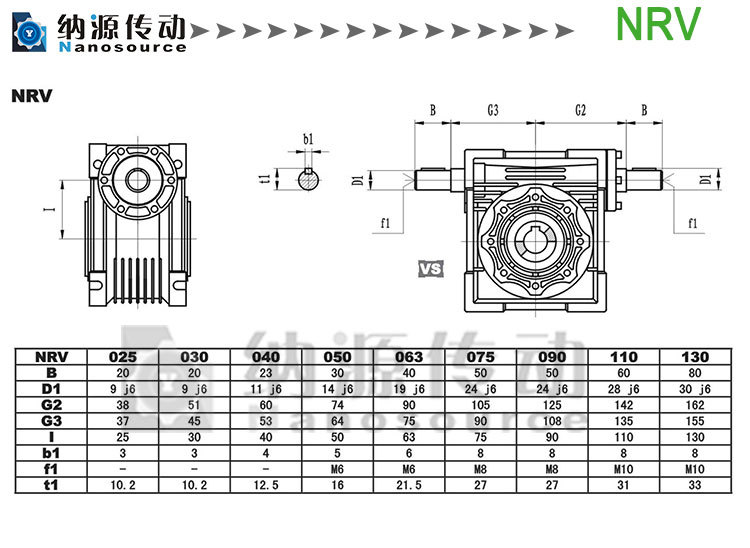 NMRV 130 10:1 aluminium alloy Worm speed reducer