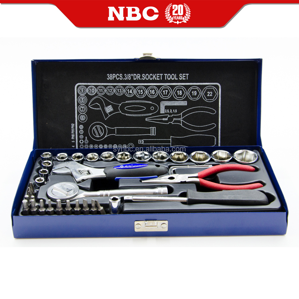 Socket Wrench tool Set Case 38 pieces 10mm