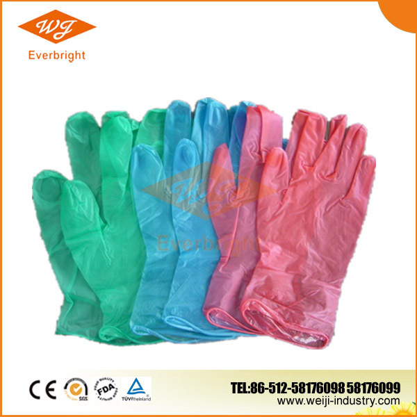 powder free disposable vinyl household cleaning gloves