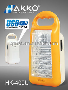 USB function portable Rechargeable Emergency LED Lamp