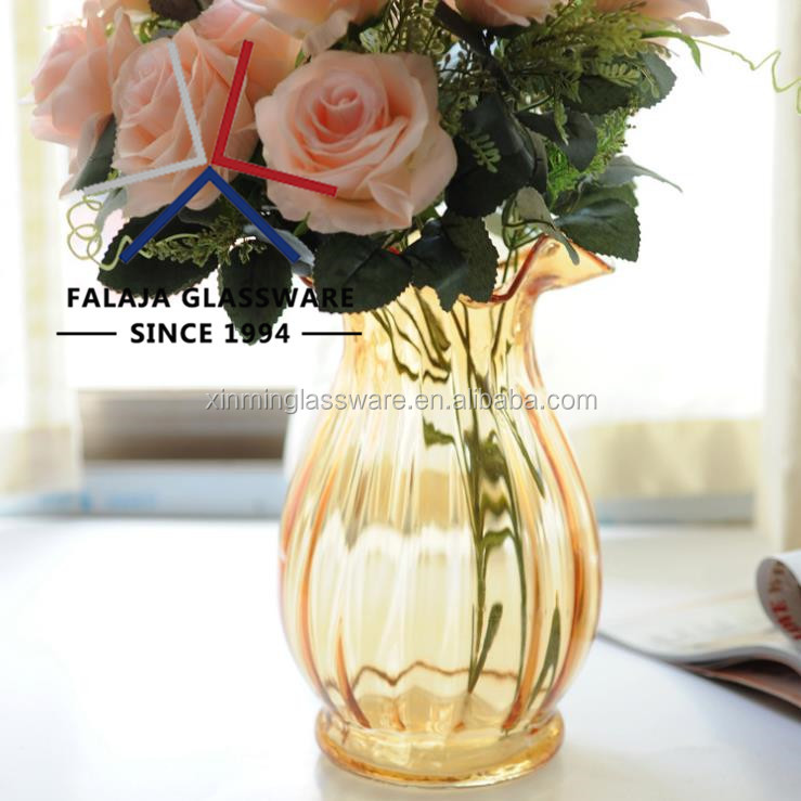 FALAJA hot sell 7  different color flower vase glass