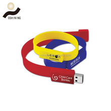 Best advertising giveaway gift Bracelet USB gadgets Cheap bulk 1gb usb flash drives with custom logo
