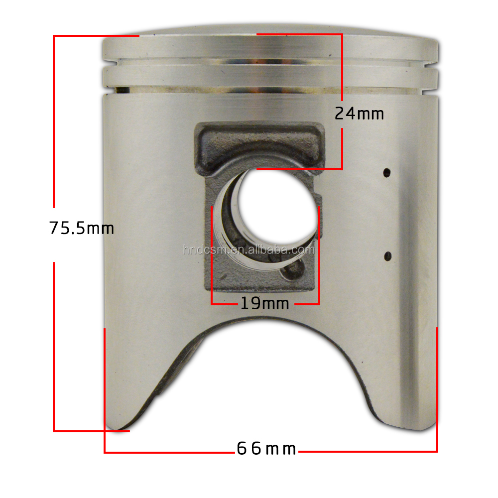Aluminum CRM250 motorcycle piston for Honda