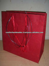 Large Size Silk Handmade Paper Bags with Multi Handles