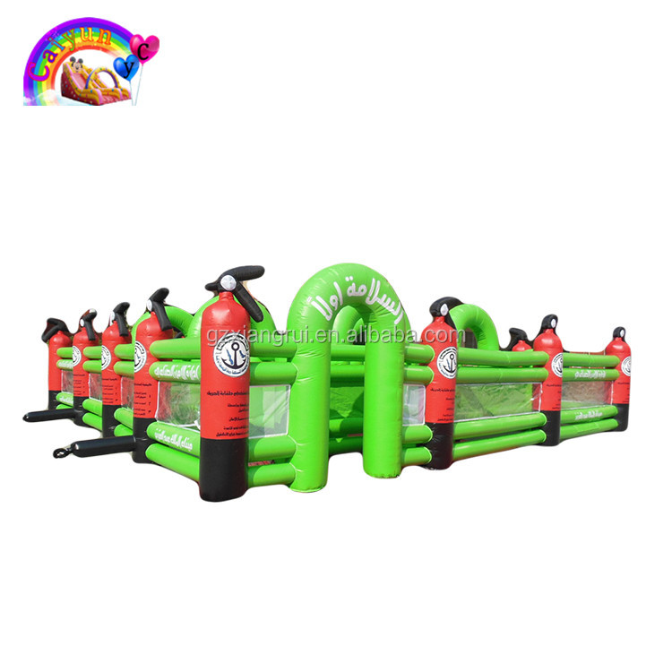 Used Inflatable Maze Game Laser Tag, Adults Inflatable Obstacle Course For Sale