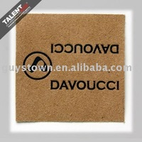 custom private decoration leather tag for clothing