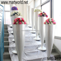 Hot sale pearl white wedding pillar,wedding fiber pillar wedding decoration,wedding mandap matka pillar decoration(MS-217)