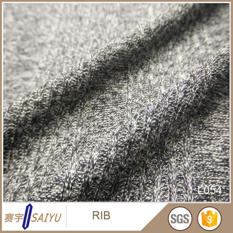 wholesale cheap Viscose Ployester 2X2 rib fabric for knit garment accessories