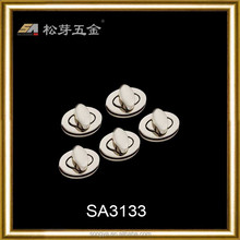 Customized Design Special Handbag Metal Turn Lock closure, Fancy Handbag Closure Metal Hardware