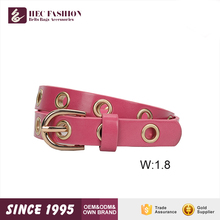 HEC OEM Designed Avainable Ladies Fashion Metal Designer Leather Belts